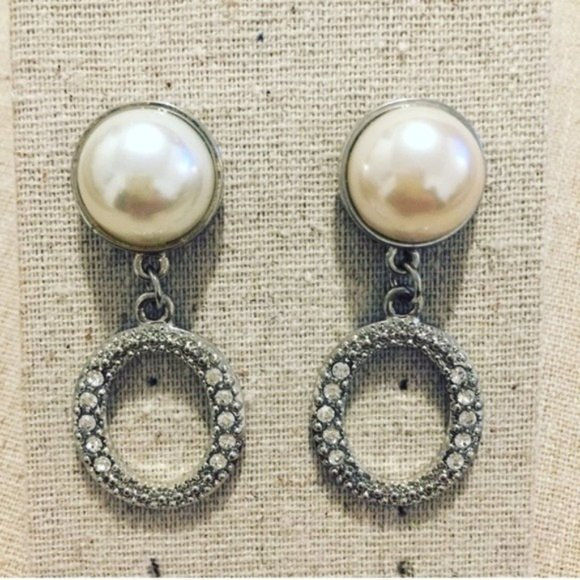 Nordstrom | Earrings | Pearl with Crystal Drops